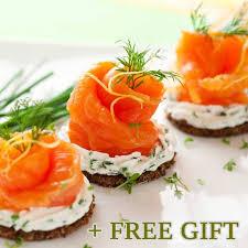 kosher smoked salmon gift set 4 pcs
