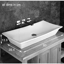 800mm stunning rectangular design capri counter top basin large elegant bathroom sink regarding 5