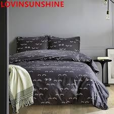 lovinsunshine eyes pattern black bedding sets king queen size duvet cover and pillowcase quilt cover bed linings duvets for green duvet covers from