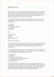 Resume Cover Letter High School Letters For Sample Jmcaravans