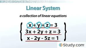 of system of linear equations math how to solve a linear system in three variables