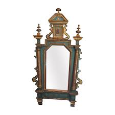 dining chair hbn highbackdiningchair: lovely antique venetian handpainted mirror   lovely antique venetian handpainted mirror  kuby