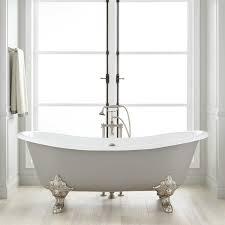 Lena Cast Iron Clawfoot Tub Monarch Imperial Feet Medium - Clawfoot tub bathroom