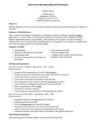 Resume For Secretary Resume Templates