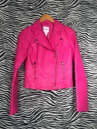 Candies Vegan Pink Leather Jacket East Village Vintage