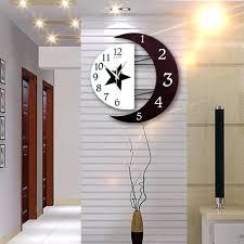 decorative wall clocks for living room star