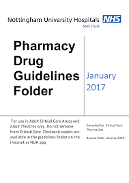 Critical Care Pharmacy Drug Guidelines