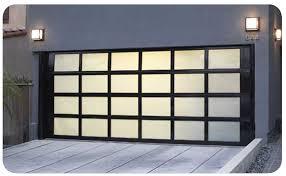 glass aluminium garage doors