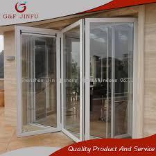 china aluminium bi folding door glass sliding door for residential and hotel china door steel door