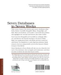 buy seven databases in seven weeks book online at low prices in buy seven databases in seven weeks book online at low prices in seven databases in seven weeks reviews ratings in