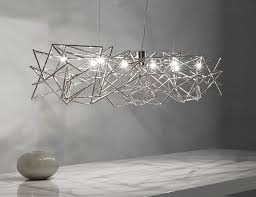 marvellous modern suspension lighting brushed nickel linear chandelier