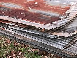 5 of 11 antique reclaimed rusty metal roof panels small corrugated