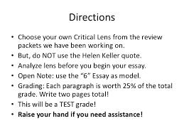 critical lens essay directions critical lens essay<br > 2
