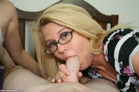 Mother teaches son blow job