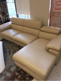 nicoletti home angel 100 leather sectional
