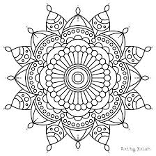 Simple Mandala Flower Coloring Pages Printable Intricate