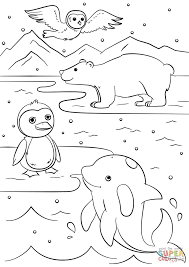 Winter Animals coloring page | Free Printable Coloring Pages