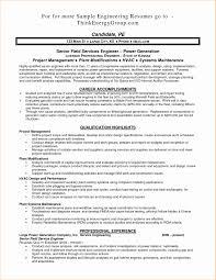 Field Engineer Resume Sample Electrical Maintenance Engineer Resume Samples Fresh Download 1