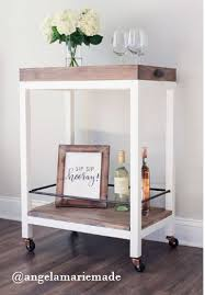 I have definitely added this to my long list of builds and the best thing  is, you can make this fun DIY bar cart for just under $50 ...