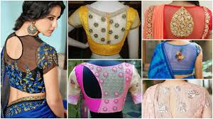 Latest Blouse Designs Photos 2019 30 Pretty Sheer Back Neck Blouse Designs In 2019 Simple