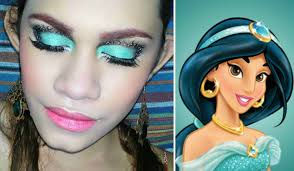 disney princess aladdin jasmine makeup tutorial