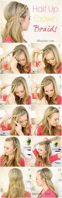 amazing half up half down hairstyles for long hair half up dutch braids