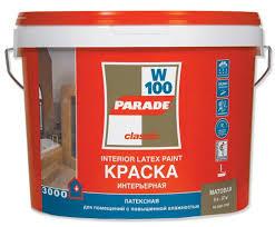 <b>Краска в/д</b> латексная интерьерная <b>PARADE</b> W100 2,5л база А ...