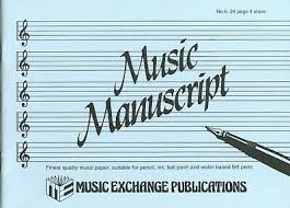 Stave Music Manuscript Paper Music Exchange No 2 24 Page 6 Book