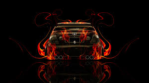 toyota altezza jdm back fire abstract car