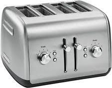 kitchenaid 4 slice toaster. kitchenaid all-metal polished stainless steel rkmt4115ss 4-slice toaster extwide kitchenaid 4 slice