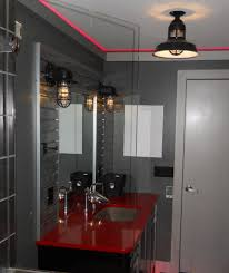 lighting rustic cast guard fixtures put some vrooom in remodeled bath blog chic bathroom