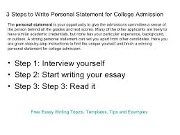 Example Personal Statements  good sample personal statement     opaquez com Statement of purpose for university admission Learn what admissions committees want to see in your Statement