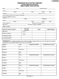 Free Job Applications Robinson Helicopter Job Application Form Free Job