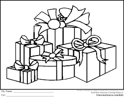 Christmas Gifts Coloring Pages Printable Color Gift Page Presents 4