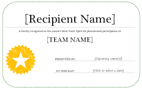 Word Award Certificate Template - Mandegar.info