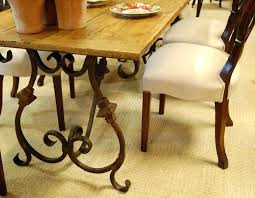 wood iron dining table glass top dining table with wrought iron base room ideas round wood and metal dining table