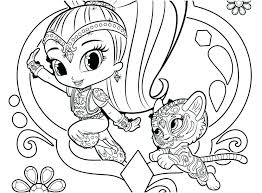 Interesting Shimmer And Shine Coloring Pages Stunning Shimmer And
