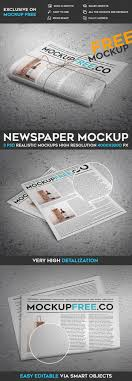Newspaper Newsletter Free Psd Mockup On Behance