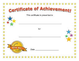 certificates of completion for kids certificate of achievement esl pinterest certificate school