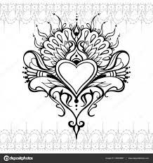 эскизы татуировок в виде сердца эскиз татуировки хной сердца