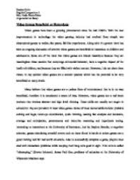 essay about violent video games our work argumentative paper on violent video games