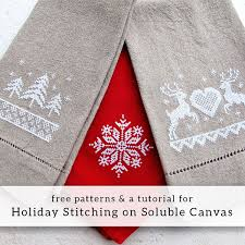 Tutorial For Stitching On Soluble Canvas Free Patterns