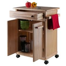 microwave kitchen cart with storage awesome winsome wood single drawer kitchen cabinet storage cart of