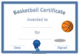 Basketball Certificates Annas Favorites Basketball Awards