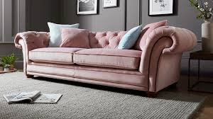 sofology stamford pink fabric sofa