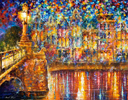 beautiful night original oil painting on canvas by leonid afremov