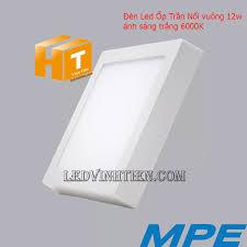 Đèn LED ốp trần vuông 6W, 12W, 18W, 24W ánh sáng trắng, vàng chính hãng MPE