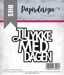Tillykke Med Dagen Dies Tillykke Med Dagen Papirdesign