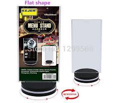 Menu Display Stands Restaurant 100pcs Free shipping Rotatable acrylic restaurant menu card display 79