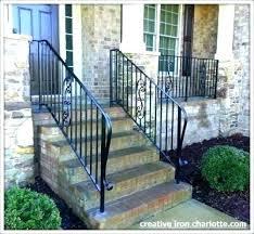 outside handrails for steps exterior lattice porch railings deck wrought iron handrail railing e uk outdoor